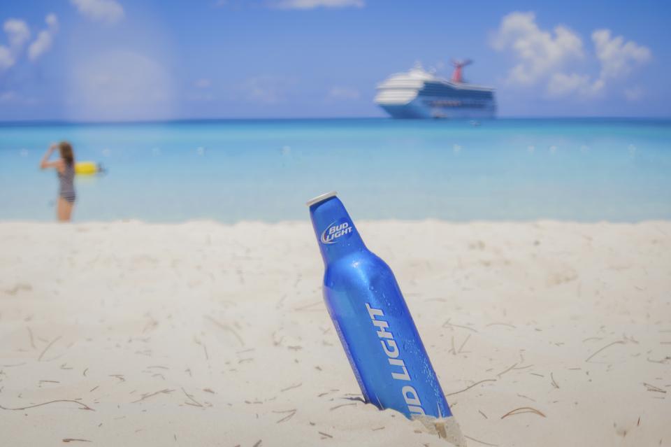 beach, sand, beer, alcohol, bud light, drinks, ocean, sea, tropical, vacation, trip, travel, cruise, ship, sunshine, summer