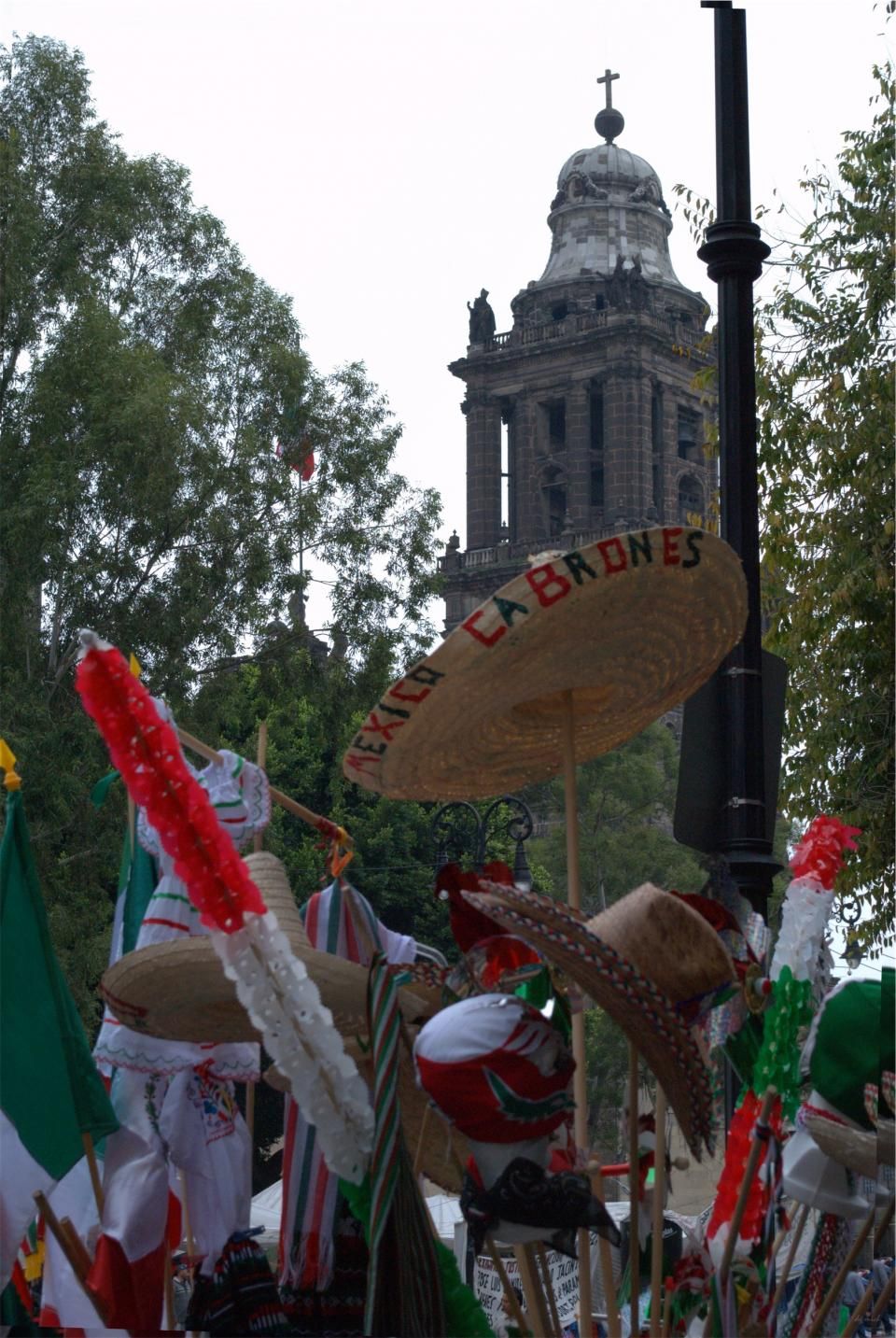 people, crowd, flags, Mexico, Mexicans, sombrero, protest