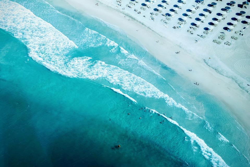 ocean, sea, beach, sand, shore, tropical, vacation, travel, trip, aerial, view, water, sunshine, summer