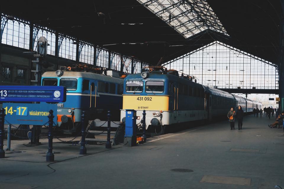 trains, train station, transportation, people