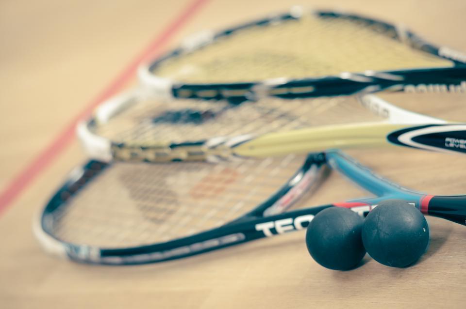squash, rackets, balls, sports, court, fitness, health