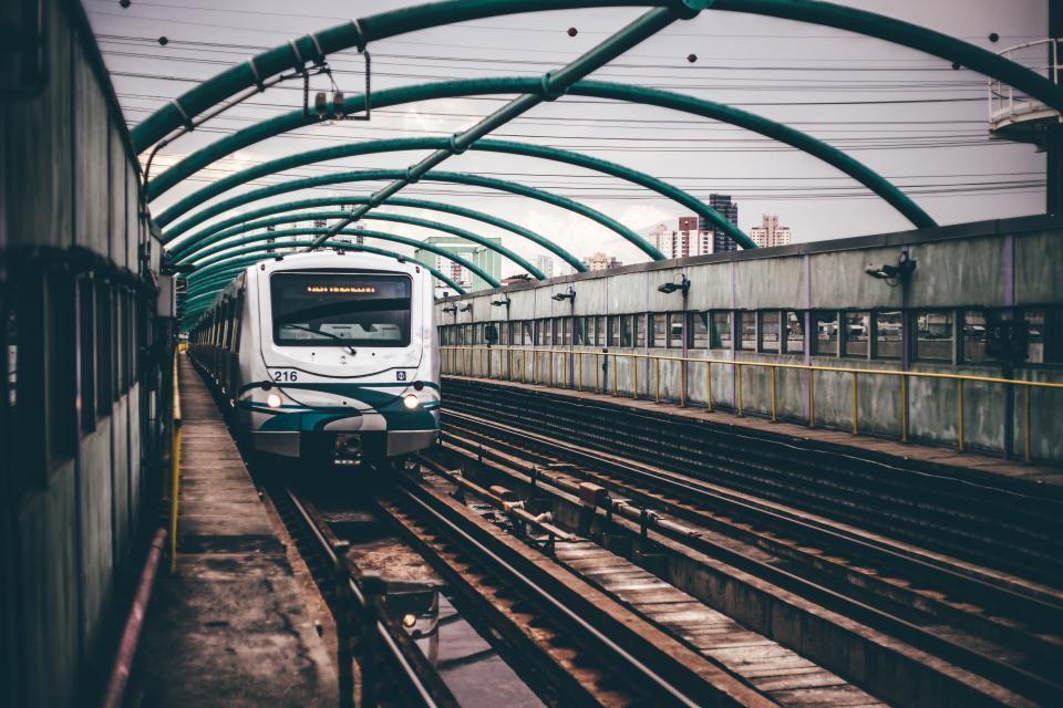 train, station, metro, railroad, railway, tracks, city, urban, transportation