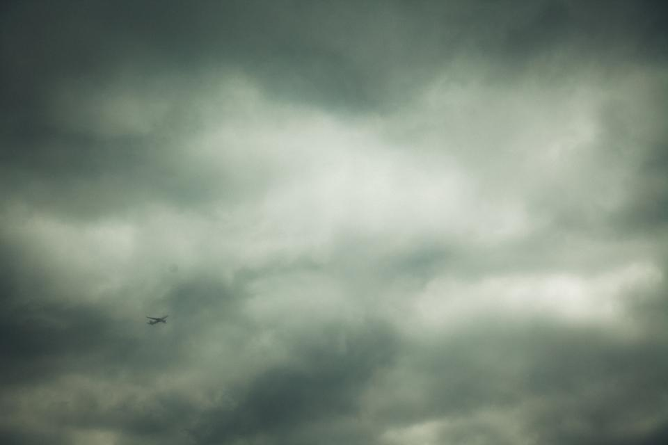 clouds, cloudy, sky, storm, grey, airplane, travel, trip, transportation