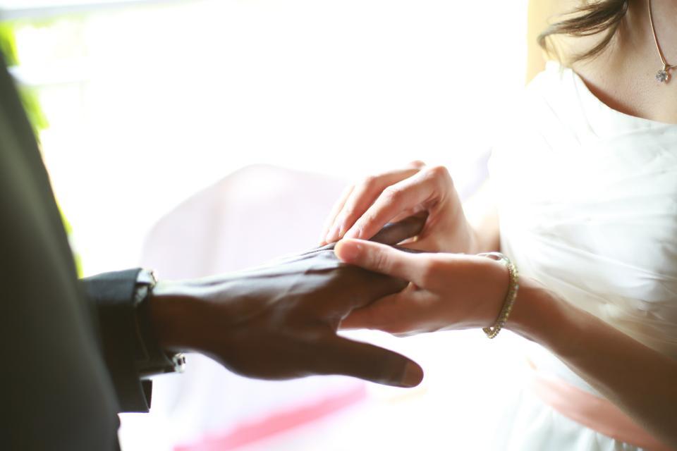 holding hands, wedding, ring, marriage, bracelet, necklace, dress, coat