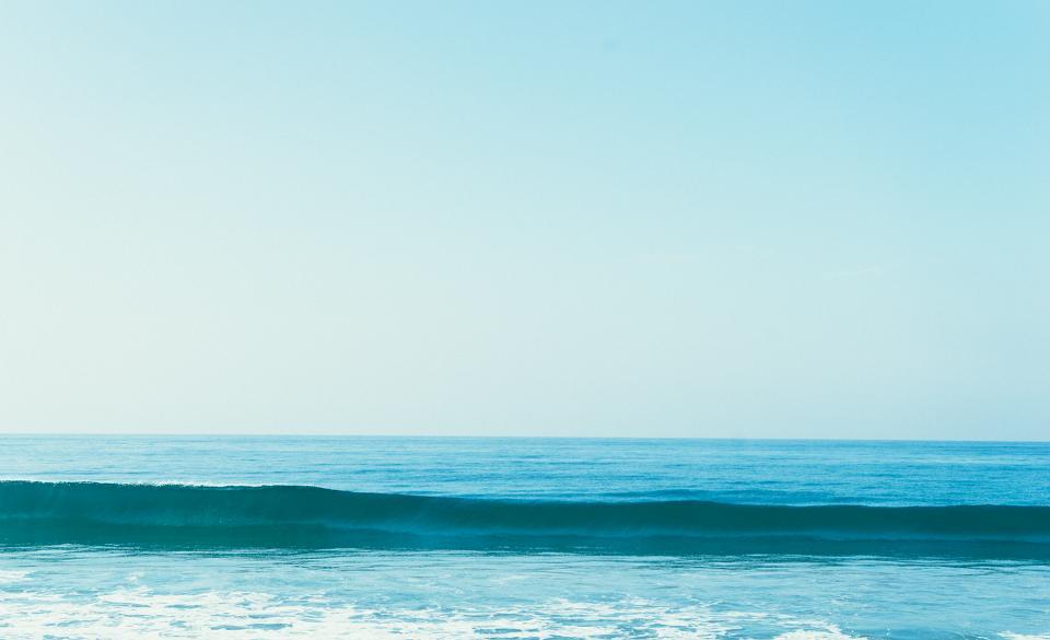blue, sky, waves, water, ocean, sea, sunshine, summer, sunny