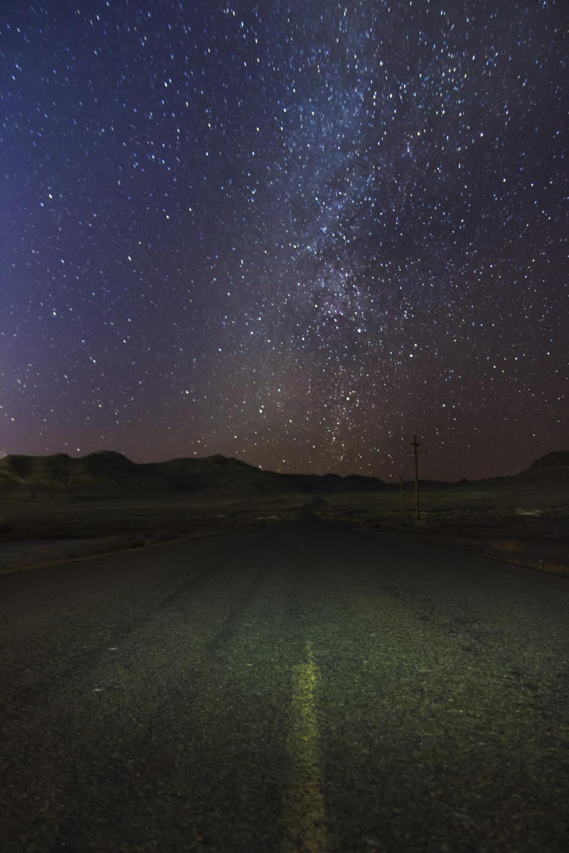 galaxy, stars, night, sky, dark, evening