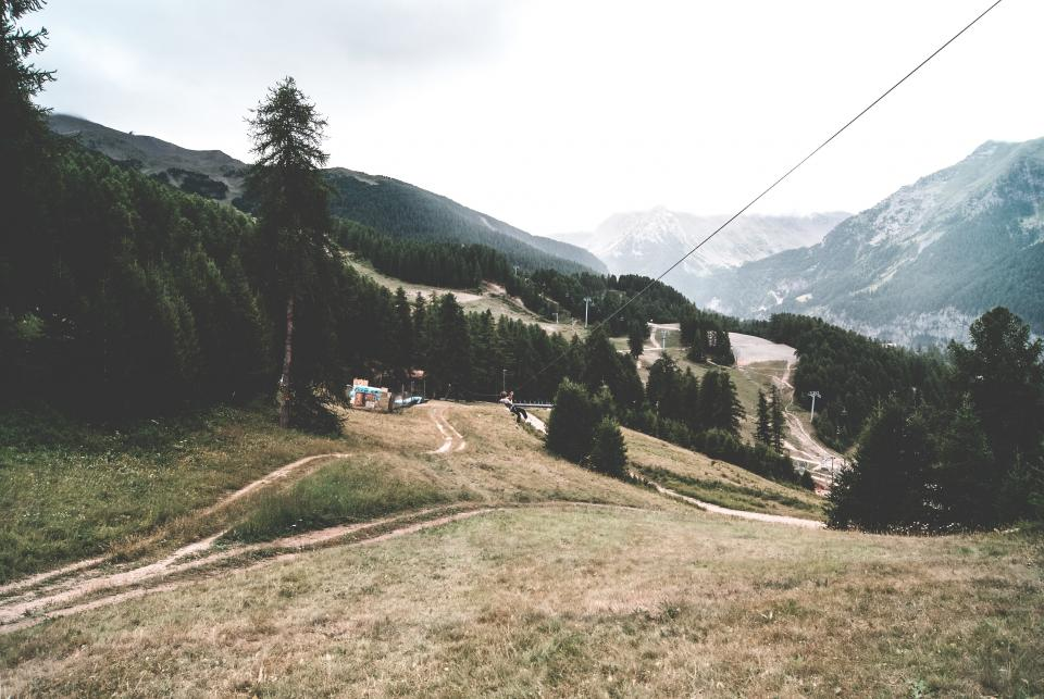 zip line, mountains, trees, grass, forest, woods, nature, landscape, outdoors, adventure, travel
