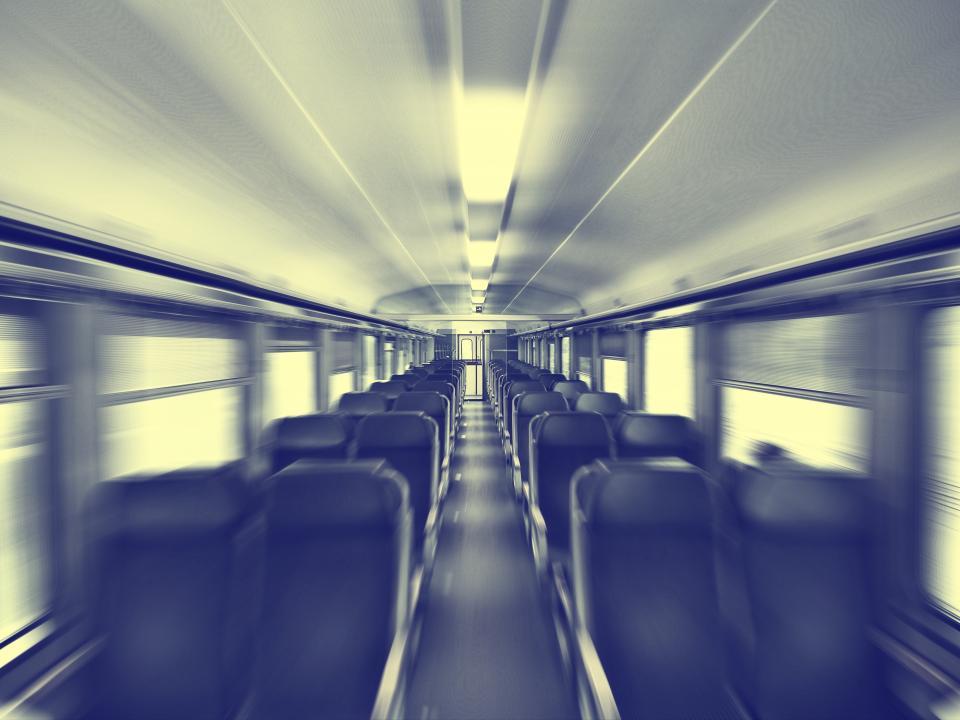 train, trip, transportation, empty, isle