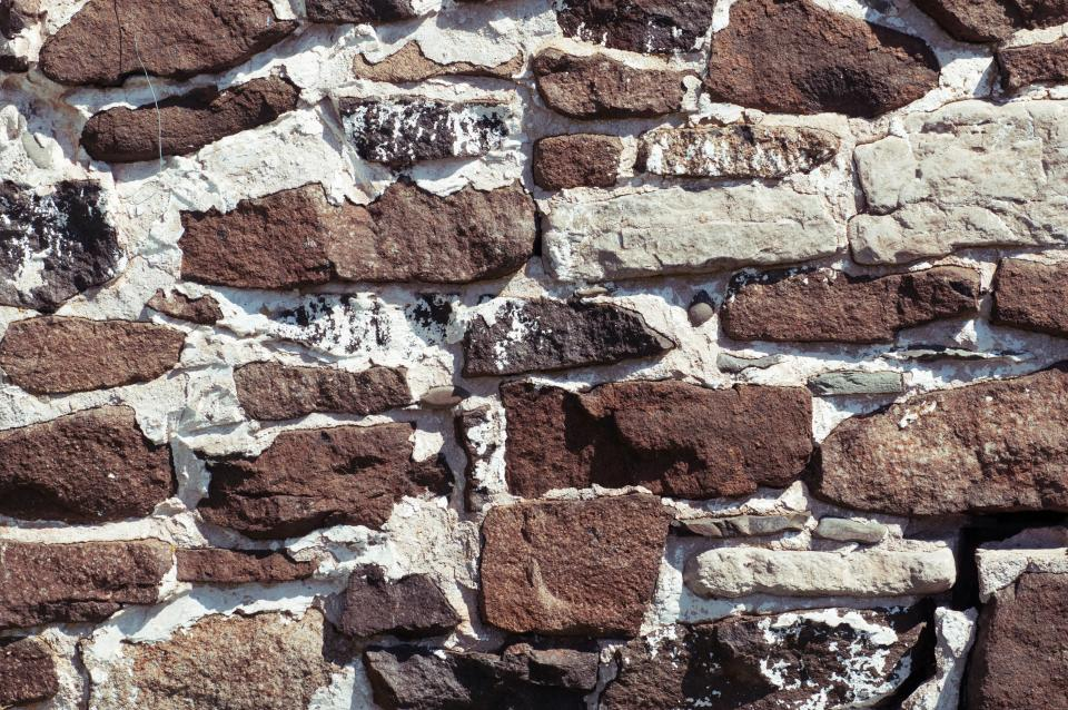 walls, bricks, structures, grout, brown, white, patterns, texture