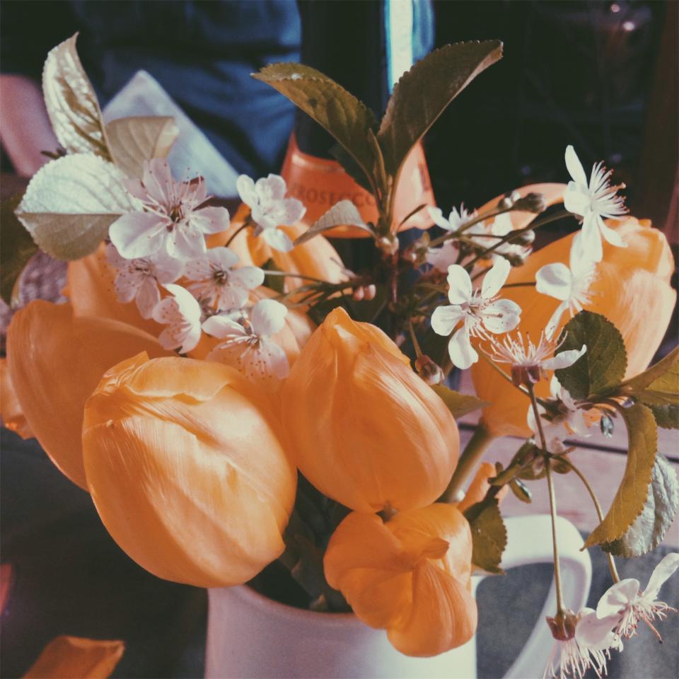 bouquet, flowers, vase