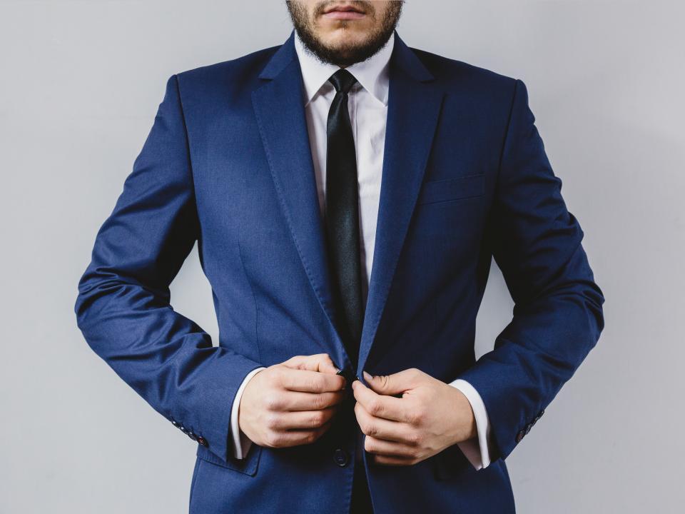 suit, tie, blazer, fashion, clothes, guy, man, gentleman, people, hands, beard