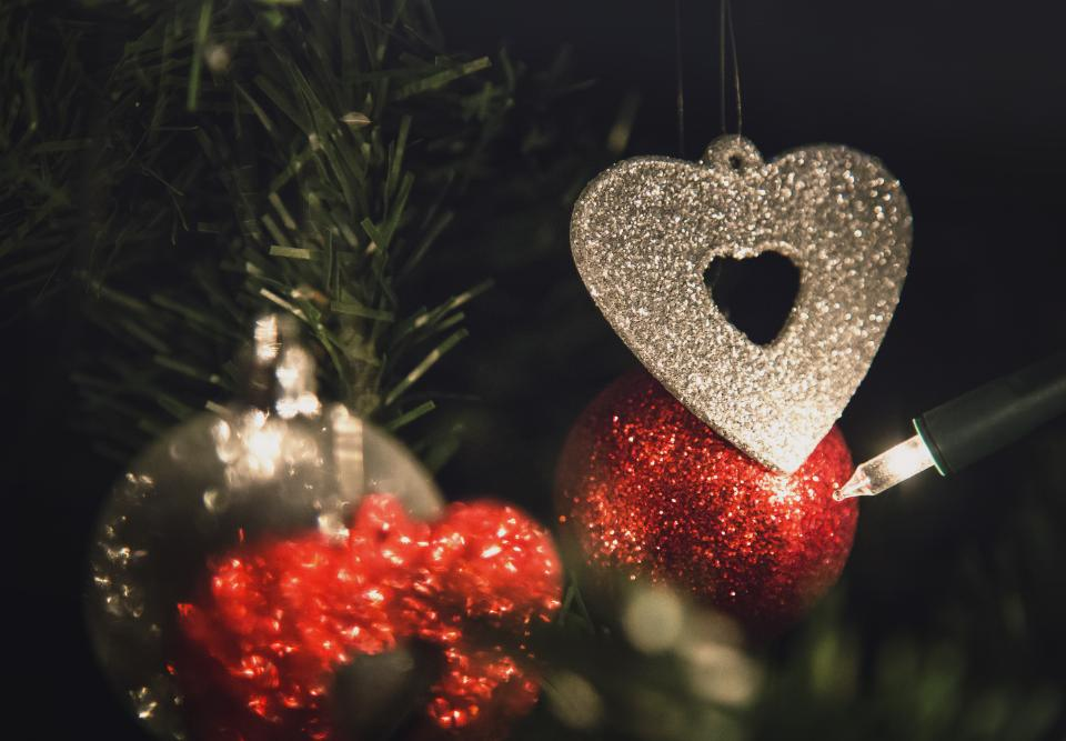 christmas, ornaments, decorations, tree, lights, festive, holidays