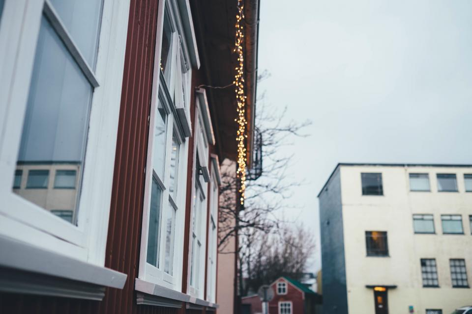house, home, windows, christmas, lights, festive, holidays