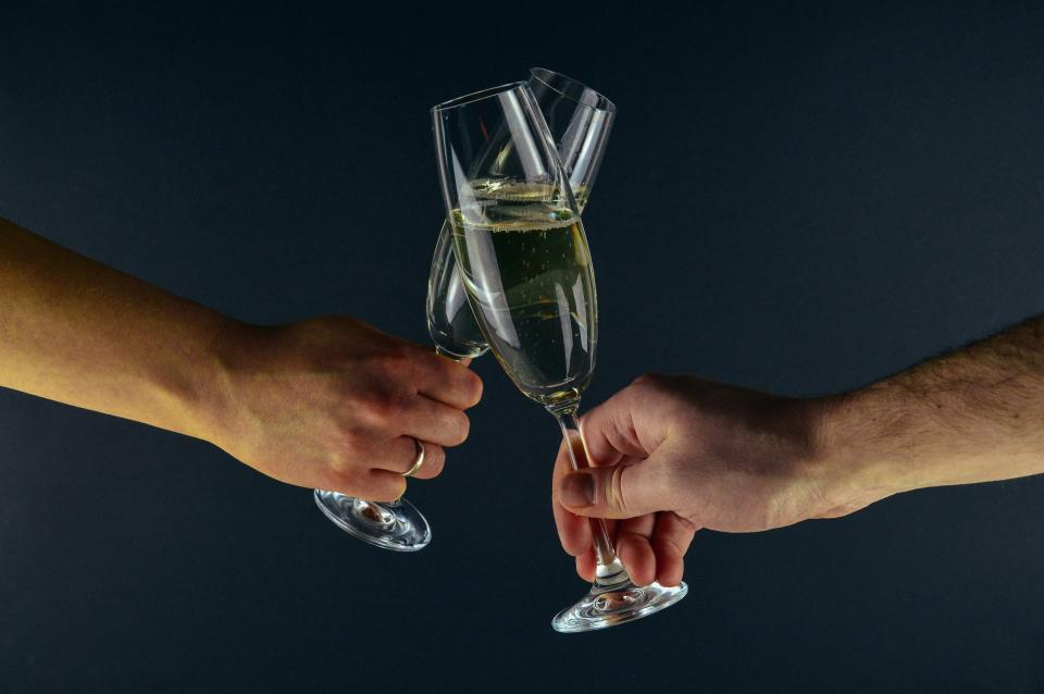 champagne, party, new years eve, glasses, alcohol, hands, cheers, party, celebration