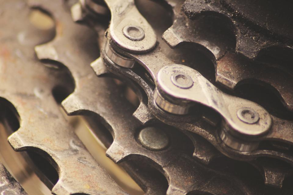 gears, chains, bike, bicycle