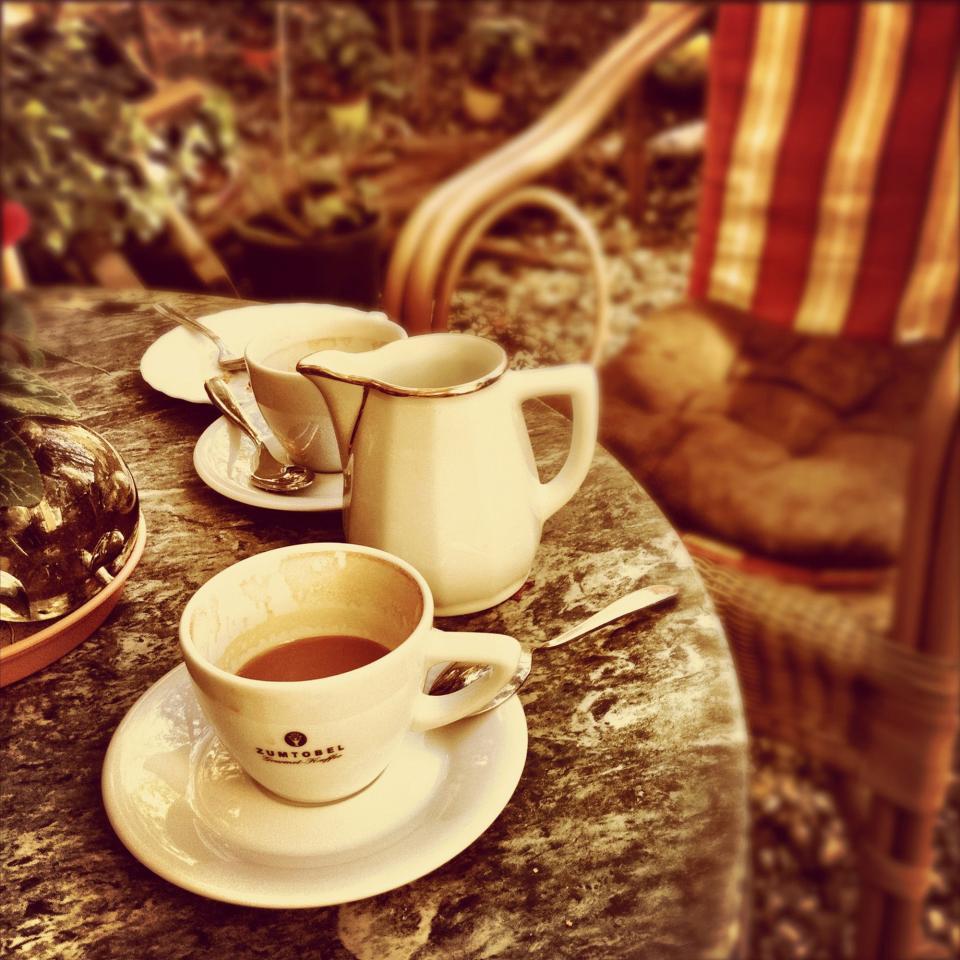 coffee, tea, espresso, cup, plates, table, breakfast, morning, drinks