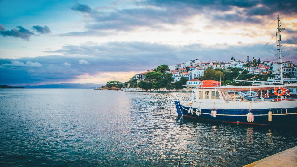 boats, ships, marina, dock, harbor, harbour, coast, island, ocean, sea, travel, trip, vacation, sky, clouds, water