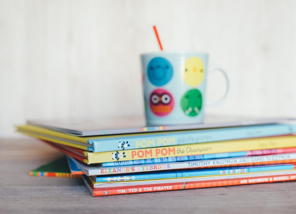 children, kids, books, reading, sippy cup
