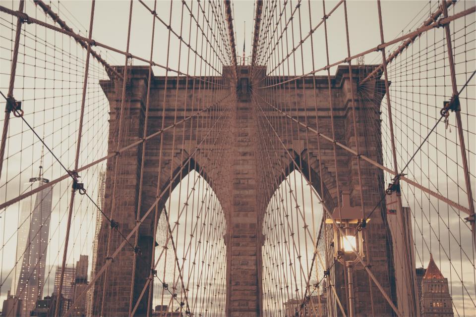 Brooklyn, bridge, architecture, New York, city, urban
