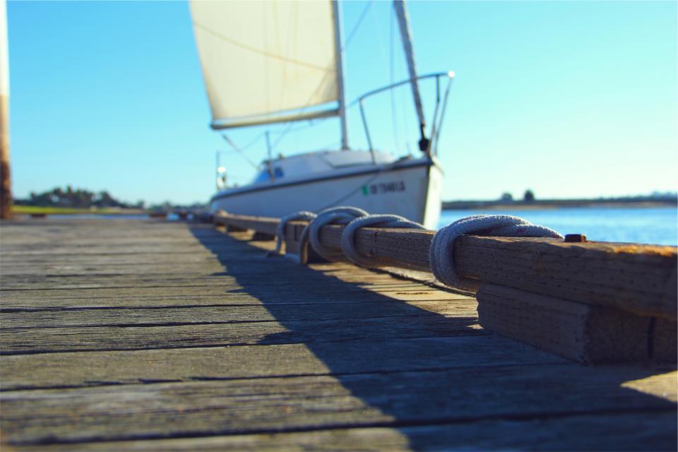 dock, sailboat, sunny