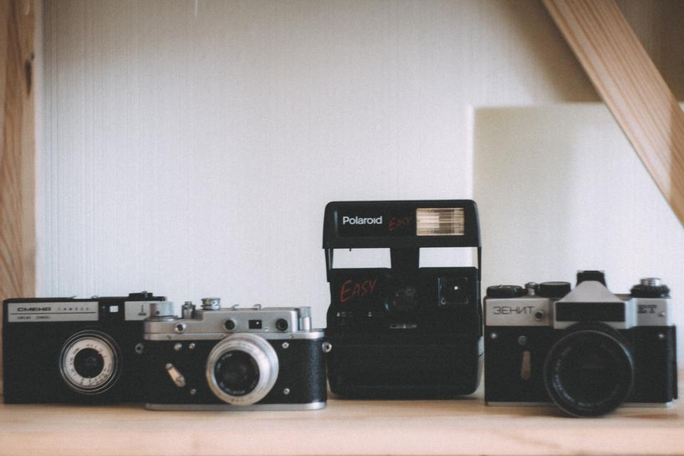 polaroid, camera, slr, vintage, oldschool, objects, photography