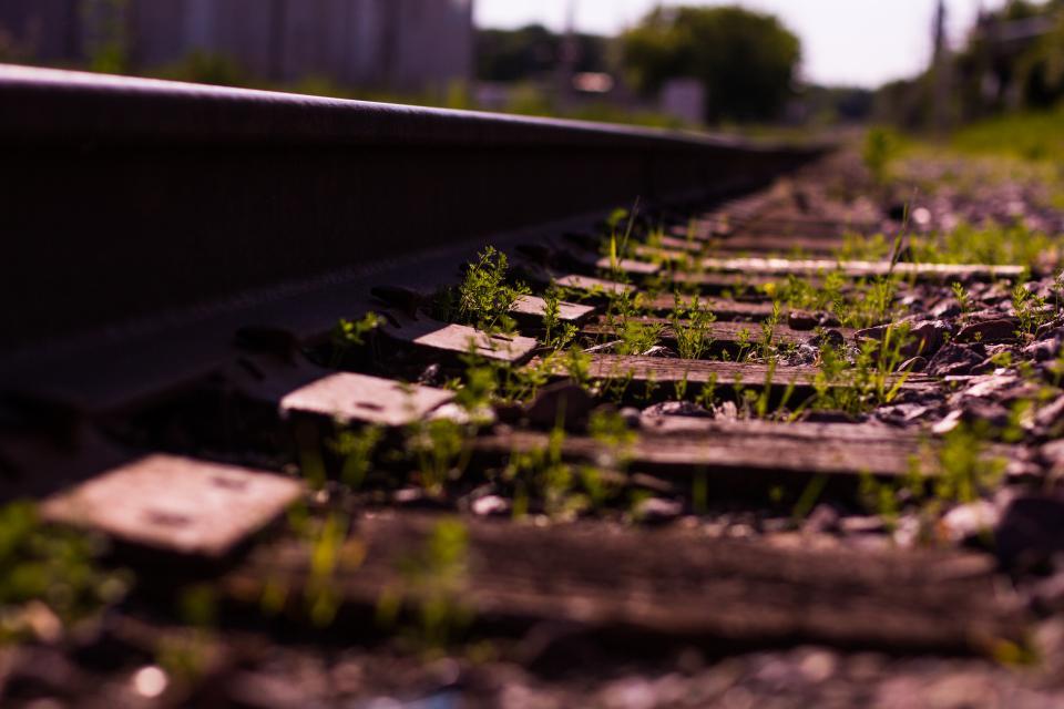 railroad, railway, train tracks, transportation