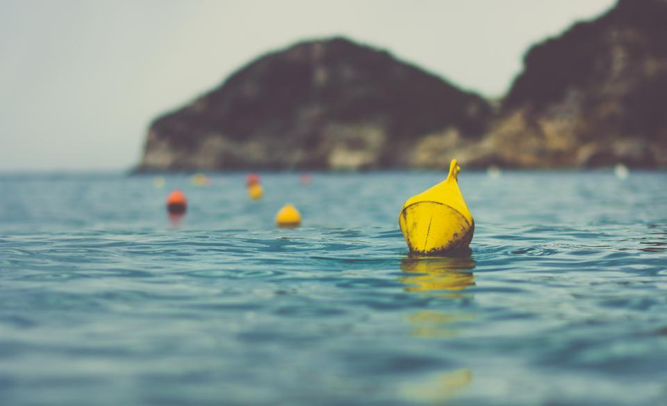 buoy, anchor, water, ocean, sea, lake