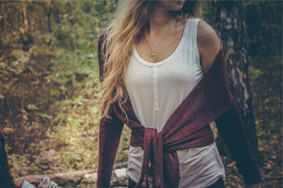 girl, woman, model, fashion, long hair, blonde, tank top, sweater, people