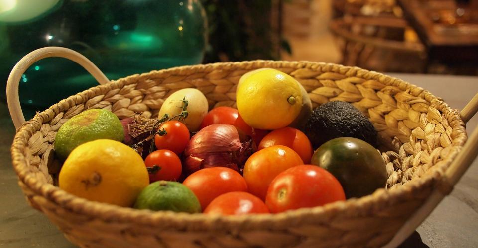 basket, fruits, vegetables, healthy