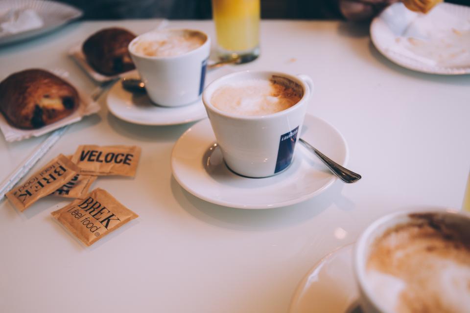 espresso, coffee, cafe, breakfast, food, drinks