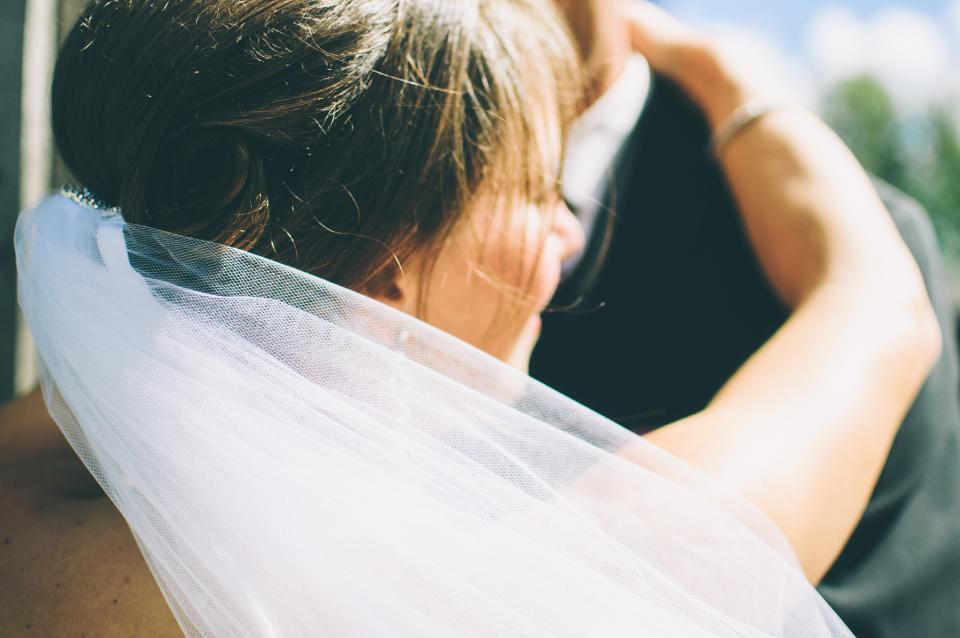 marriage, married, couple, love, romance, bride, groom, people, girl, woman, man, veil