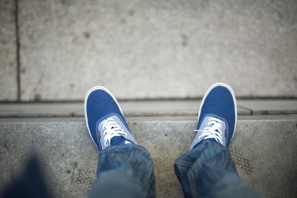shoes, sneakers, jeans, denim, lifestyle, concrete, city