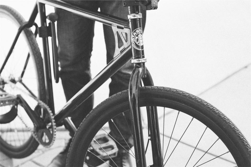 bike, bicycle, black and white