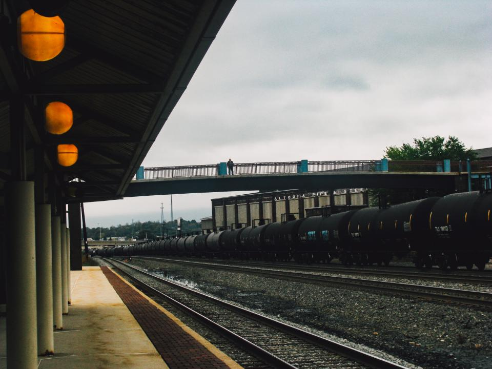 railroad, railway, train station, transportation