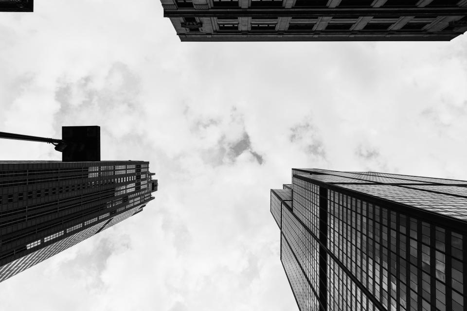 buildings, towers, high rises, architecture, city, urban, sky, clouds
