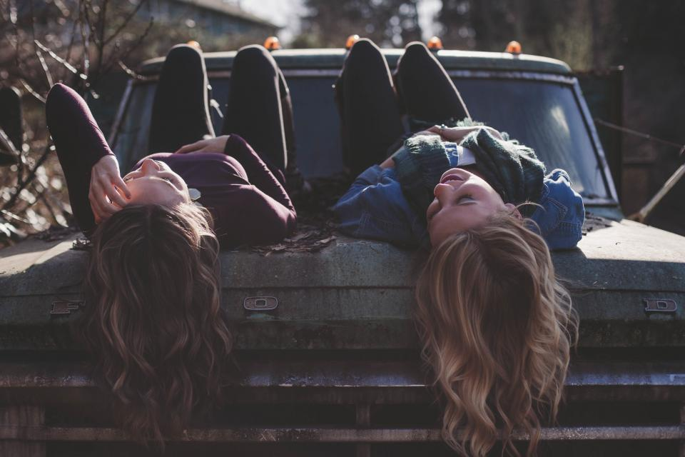 girls, woman, women, people, laughing, smile, smiling, happy, lifestyle, truck