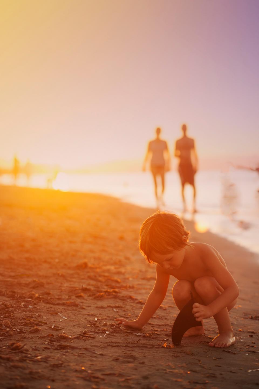 child, beach, ocean, sea, shore, vacation, travel, summer, sun, sand, sunset