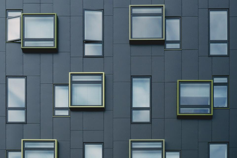 building, architecture, windows, city, urban, condo, apartment