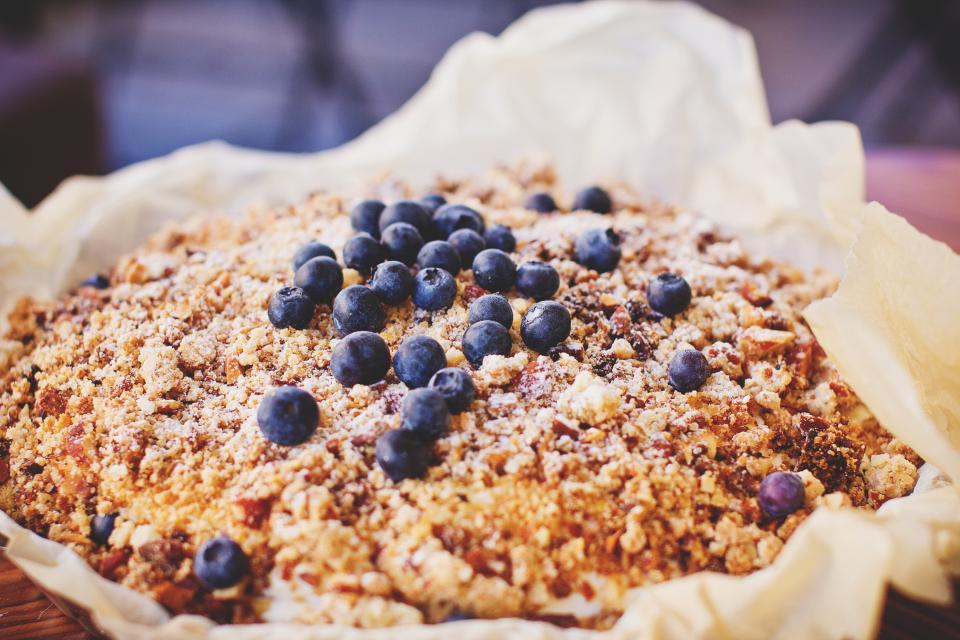 food, dessert, pie, baking, blueberries