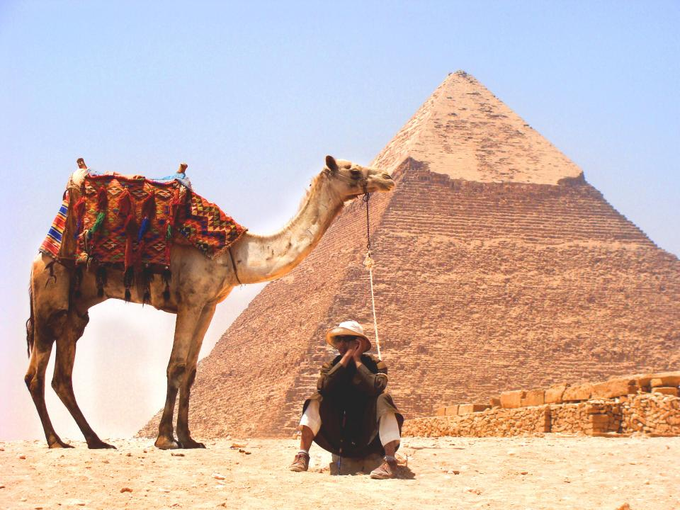 camel, desert, pyramid, middle east, sand, animals, people