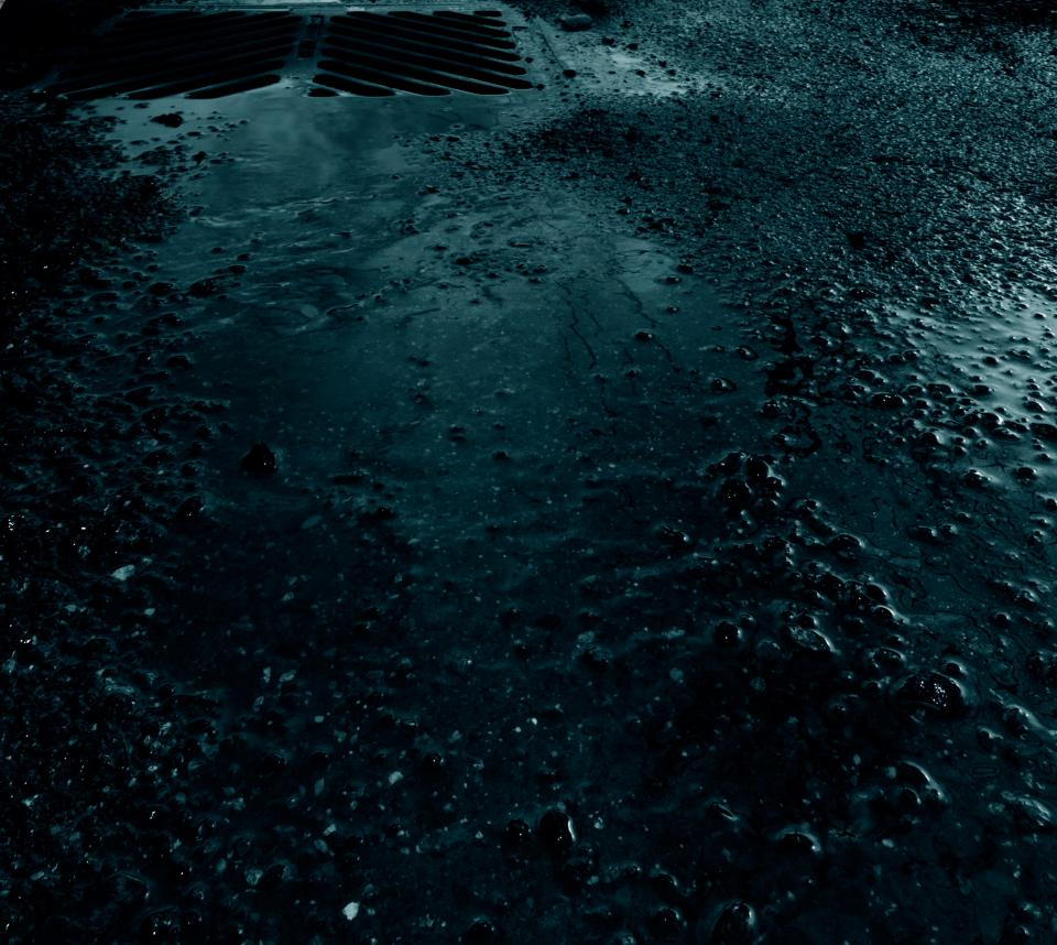 sewer, rain, water, puddles, pavement, road, street