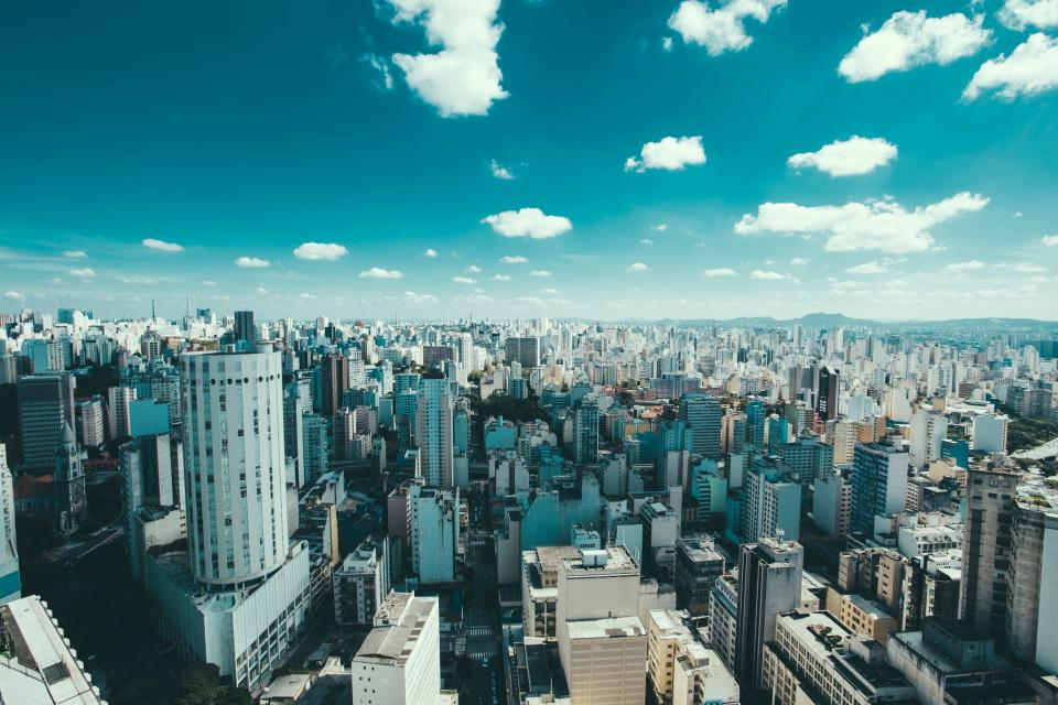 architecture, buildings, office, residential, city, high rise, urban, metro, downtown, nature, sky, clouds, horizon