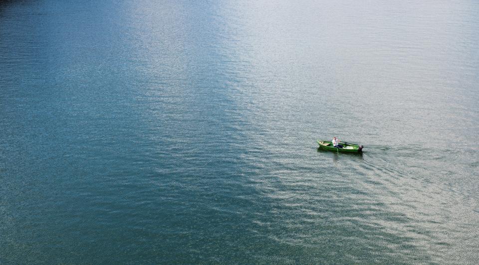 boat, rowing, lake, ocean, water, people