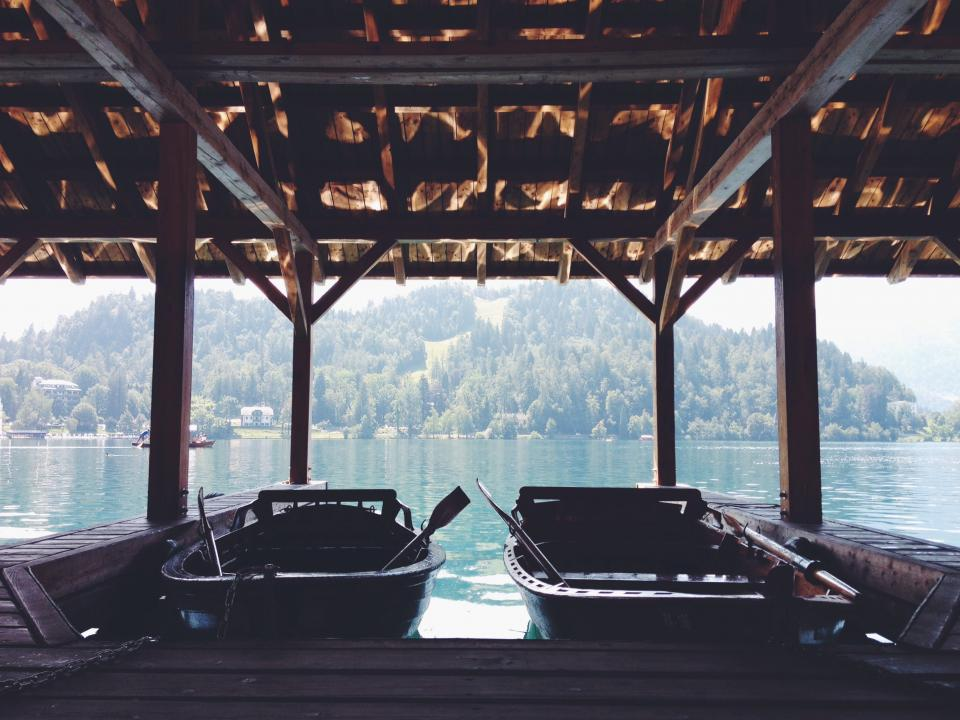 boats, docks, lake, water