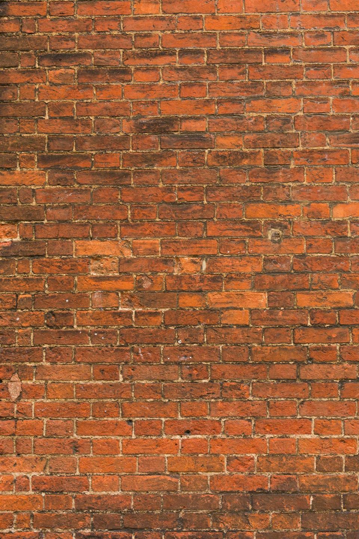 wall, bricks, grout, patterns, textures, orange, vermilion