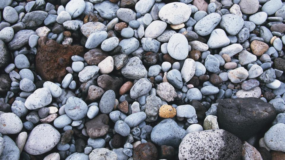 rocks, pebbles, beach, sand, ocean, nature, outdoors