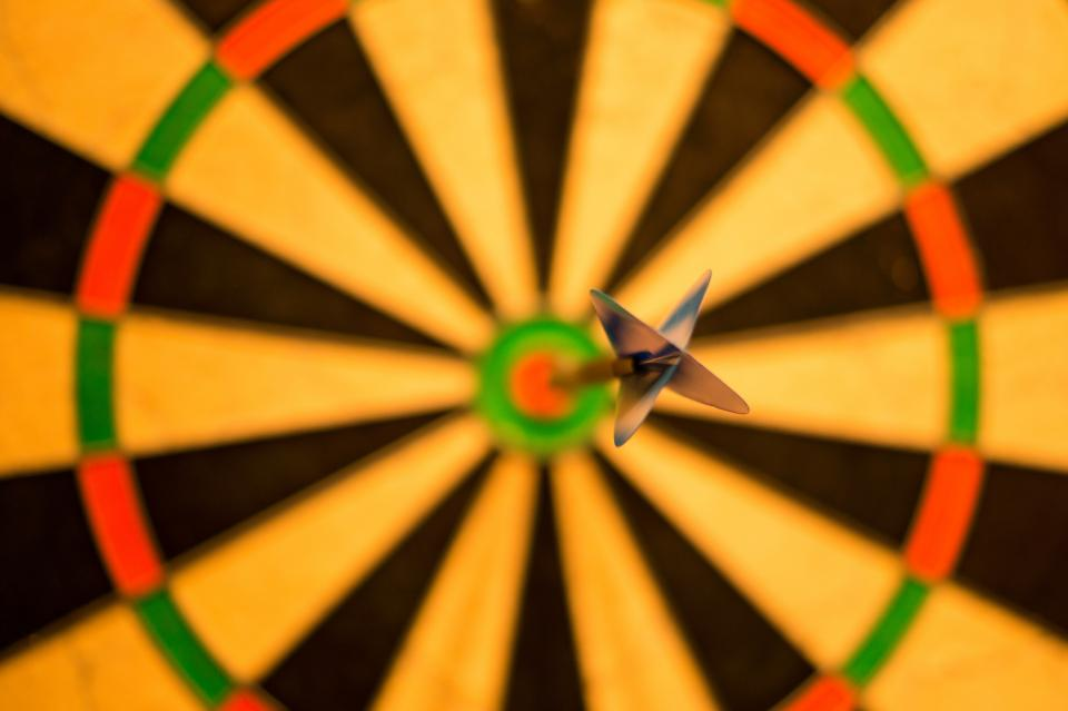 darts, dart board, bulls eye, sports