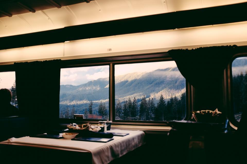 train, transportation, window