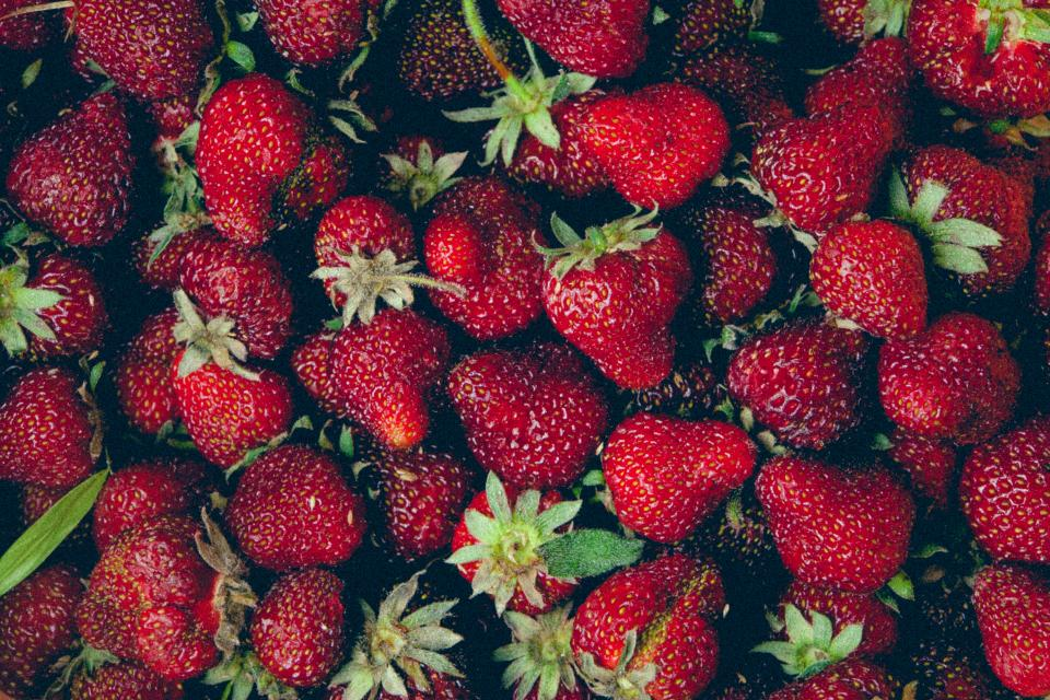 red, strawberries, fruits, healthy, food