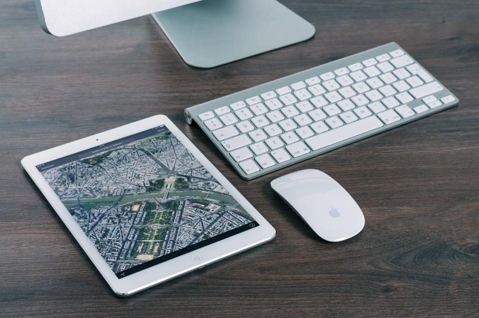 ipad, tablet, keyboard, mouse, computer, desktop, technology, office, business, desk